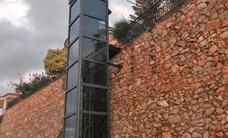 dış mekan hidrolik ev asansörü